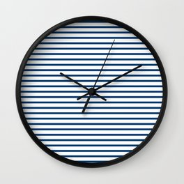 Sailor Stripes Navy & White Wall Clock