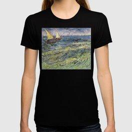 Fishing Boats at Saintes-Maries by Vincent van Gogh T-shirt