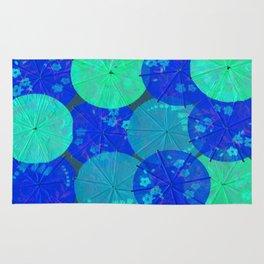 Blue Umbrellas Rug