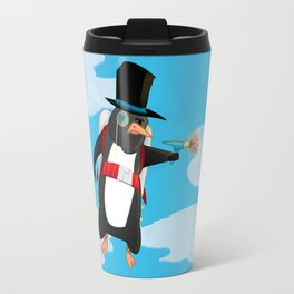 Professor Jetpack Penguin. Esquire.  Travel Mug