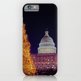 Christmas tree in Capitol Hill iPhone Case