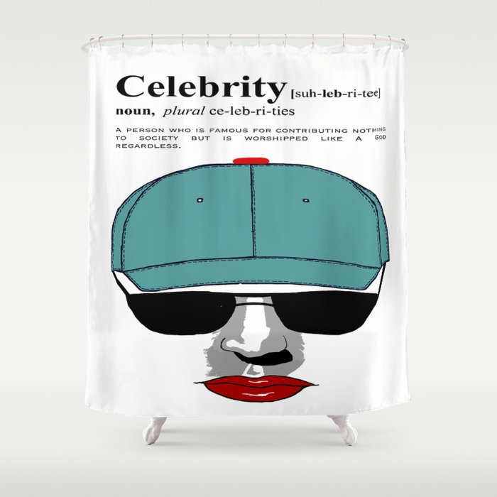 Celebrity Shower Curtain By Jimmy7