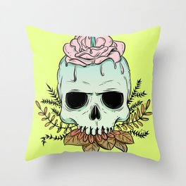 We all born to die Throw Pillow