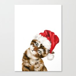 Christmas Baby Cat Canvas Print