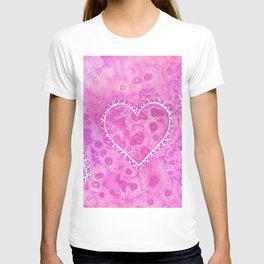 Pink Lace Hearts T-shirt