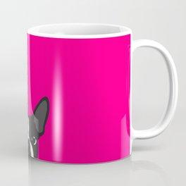Boston Terrier Hot Pink Coffee Mug