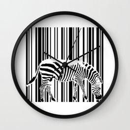 Barcode Zebra Wall Clock