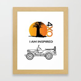 I AM INSPIRED JEEP CJ Framed Art Print