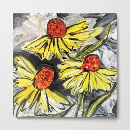 Yellorange Flowers Metal Print