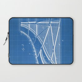 Steinway Piano Patent - Piano Player Art - Blueprint Laptop Sleeve