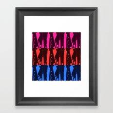 Alien Surf Fiend Framed Art Print