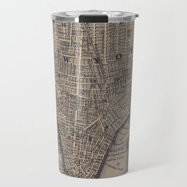 Vintage NYC and Brooklyn Map (1847) Travel Mug