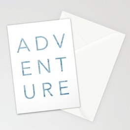 Adventure - clean, modern, typography Stationery Cards