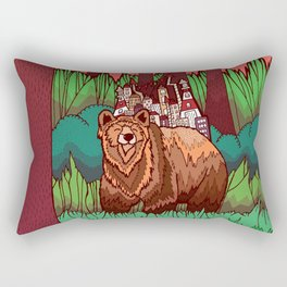 The Forest and The Bear Rectangular Pillow