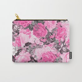 Floral pink vintage pattern Carry-All Pouch