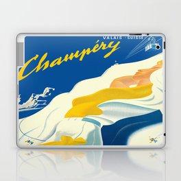 Vintage Champery Switzerland Travel Laptop & iPad Skin