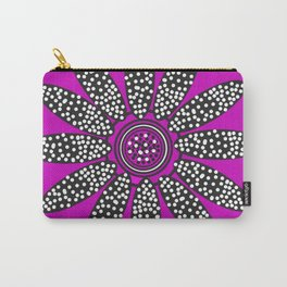 Daisy dots purple Carry-All Pouch