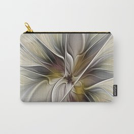 Floral Abstract, Fractal Art Carry-All Pouch