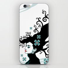 Audrey Hepburn Natural line iPhone & iPod Skin