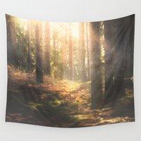 sleep Wall Tapestries featuring When rainbows sleep by HappyMelvin