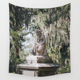 Bonaventure Cemetery - Statue of Eliza Wilhelmina Theus III Wall Tapestry