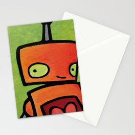 Robot - Sweet Shy Glances Stationery Cards
