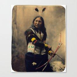 Shout At, Oglala Sioux, by Heyn Photo, 1899 Canvas Print