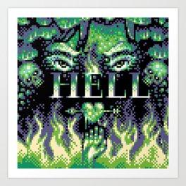 Green Hell - Pixel Art Art Print