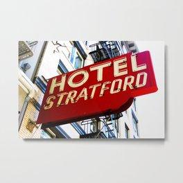 Hotel Stratford Metal Print