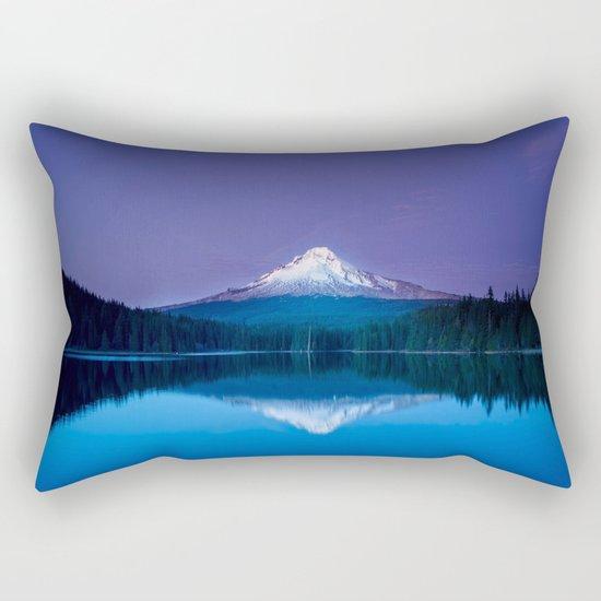 blue mountain Rectangular Pillow