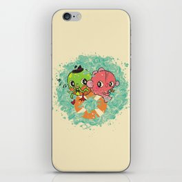 The Pond Lovers - Mr. Froggy and Ms Goldfish iPhone Skin