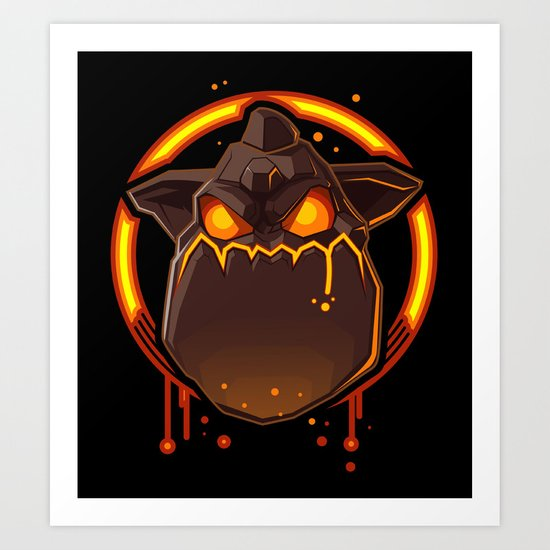 Clash Of Clans Lava Hound Art Print By Vector Volt Society6