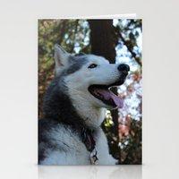 husky Stationery Cards featuring Husky. by Saremotion