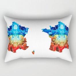 France - European Map by Sharon Cummings Rectangular Pillow