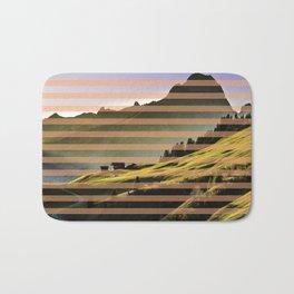 Landscape pattern (with pink touches) Bath Mat