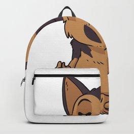 German Shepherd Dog Yoga Backpack