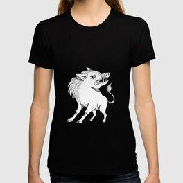 Razorback Doodle Art Black and White T-shirt