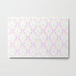 2307 Outlined pattern light ... Metal Print