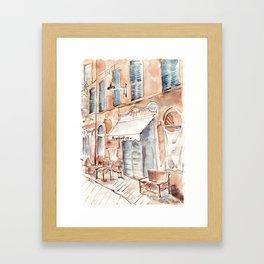 Old Italian street Framed Art Print