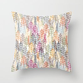 Woodland Rainbow Throw Pillow