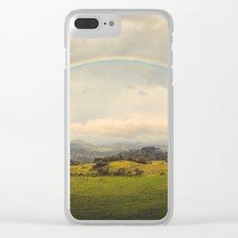 Rainbow Sublime Clear iPhone Case