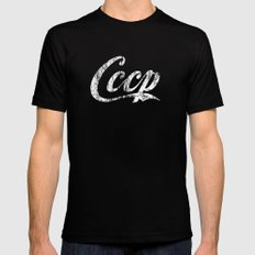 CCCP Mens Fitted Tee Black LARGE
