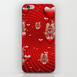 love two dogs iPhone Skin