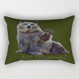 Bearly Greetings Rectangular Pillow