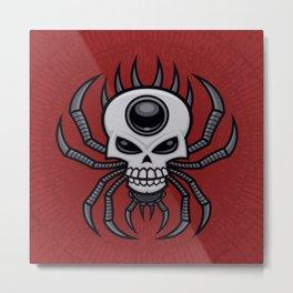 Skull Spider Metal Print