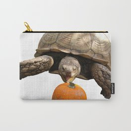 Sulcata Tortoise with Pumpkin Carry-All Pouch