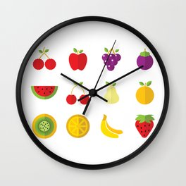 One Fruit A Day Keeps The Doctor Away Wall Clock