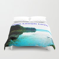 dallas Duvet Covers featuring Dallas Bay by Happy Fish Gallery