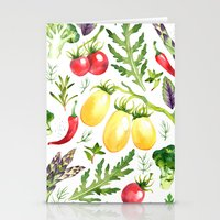vegetables Stationery Cards featuring Watercolor vegetables by Achtung