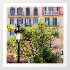 Spring time in Barcelona Art Print